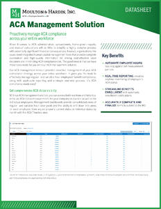 Georgia ACA Management Solution Guide
