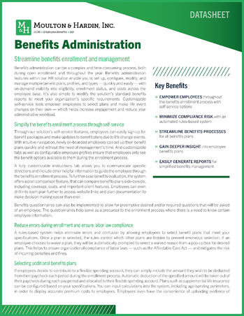 Georgia Benefits Administration Datasheet