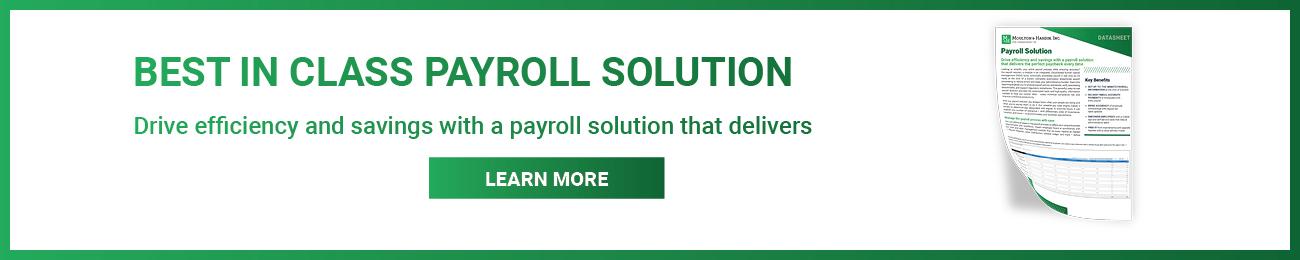 Georgia Payroll Solution Datasheet Download