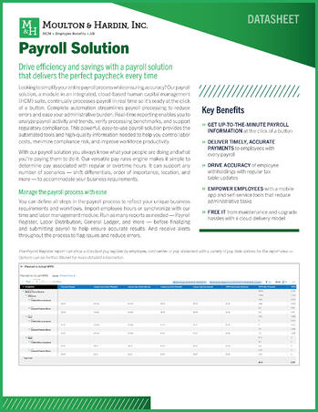 OneSource Payroll Solution for Georgia Collateral Cover