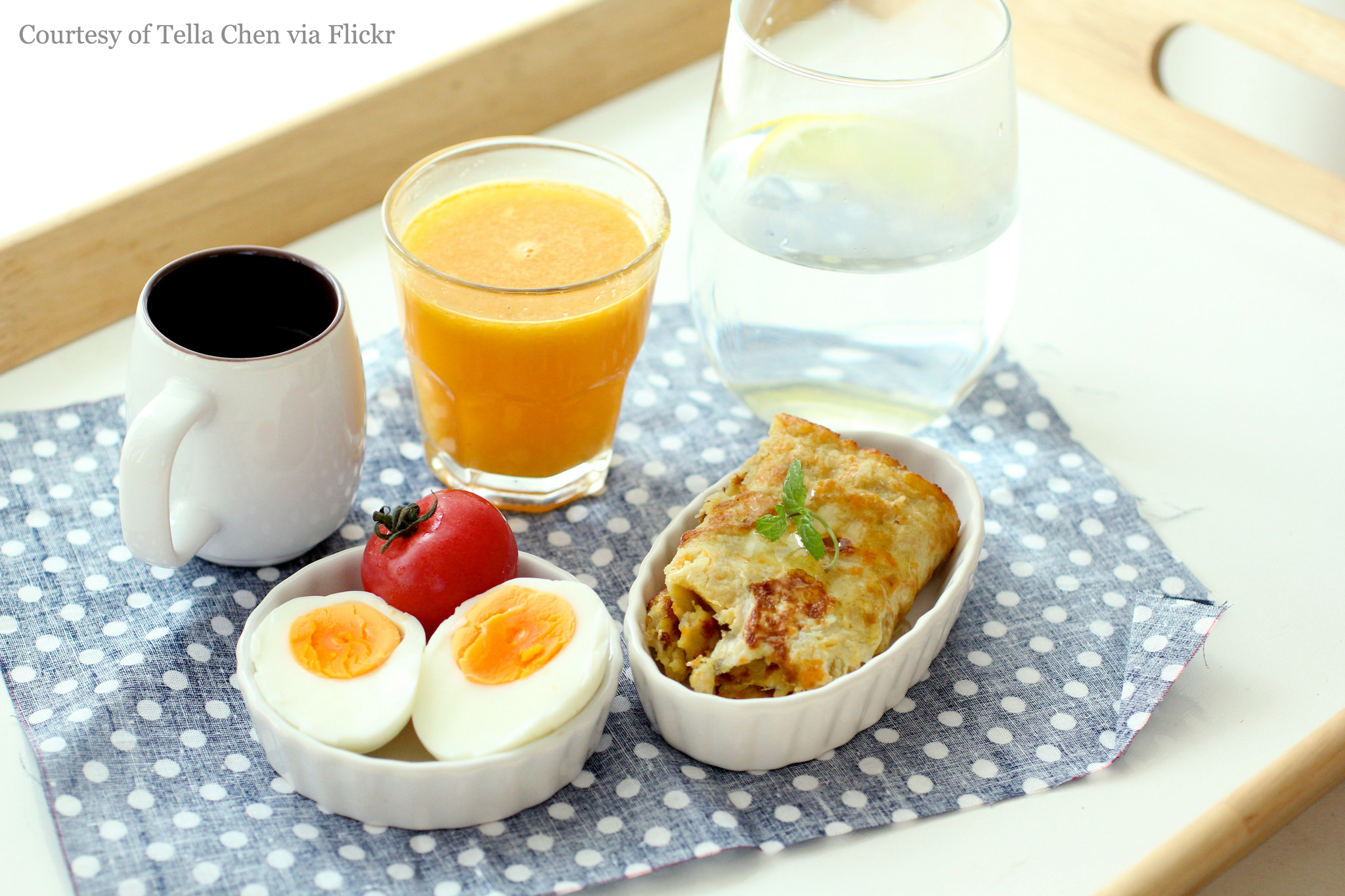 A healthy breakfast on display