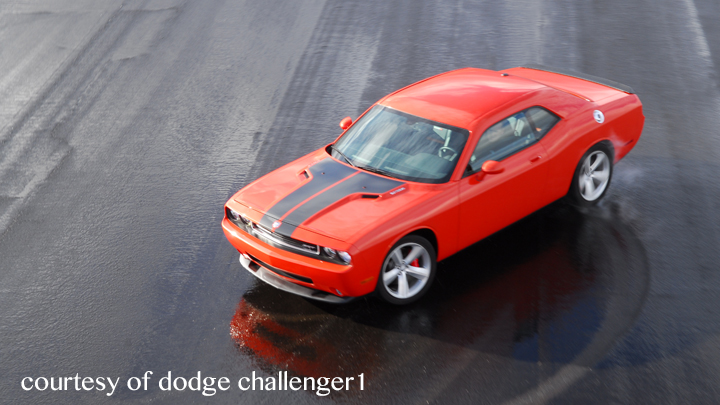 A dodge challenger displaying performance