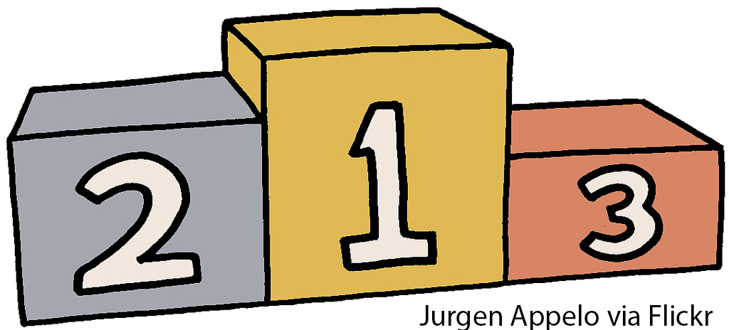 olympic podiums