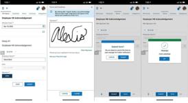 OneSource Platform wet signatures