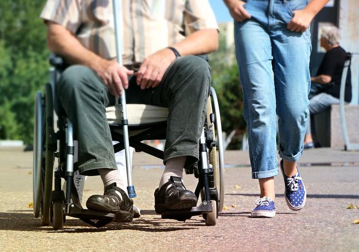 A wheelchair disabled man